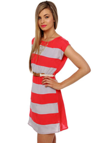 Shipwrecked Red Striped Dress at Lulus.com!