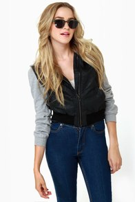 Lost Forest Black Cropped and Hooded Jacket at Lulus.com!
