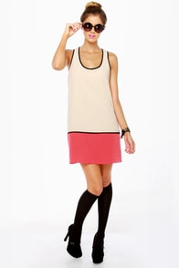 Black Sheep Moon Powder Color Block Dress at Lulus.com!