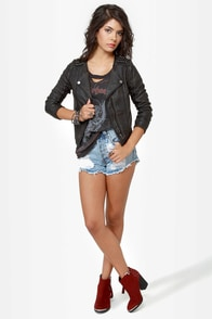 Black Sheep Spirit Dark Brown Moto Jacket at Lulus.com!