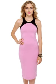 Motel Nina Black and Pink Dress at Lulus.com!