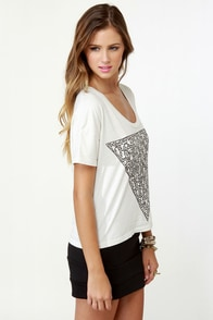 Obey Triangle of Friends Print Crop Top at Lulus.com!