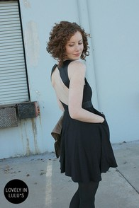 Leather Playing Field Backless Black Dress at Lulus.com!