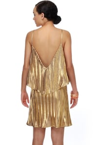 Electric Honey Gold Dress
