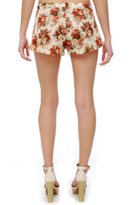 Fiddle Dee Dee Floral Print Shorts at Lulus.com!