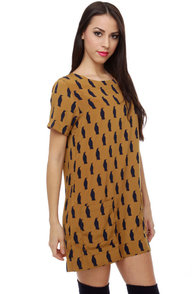 Penguin Pals Brown Shift Dress at Lulus.com!