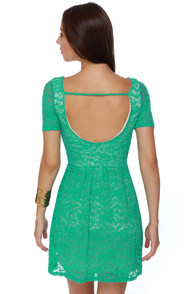 Gazebo Get-Together Teal Lace Dress at Lulus.com!