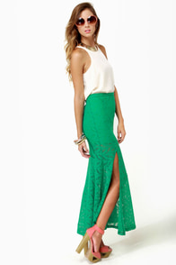 Crocheted Loving Teal Maxi Skirt at Lulus.com!