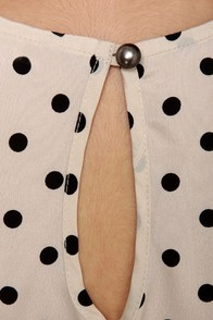 Collar-ship Award Polka Dot Tank Top at Lulus.com!