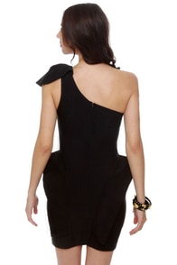 Marry the Night One Shoulder Black Dress at Lulus.com!