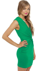 Twisting the Night Away Green Dress at Lulus.com!