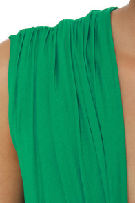 Twisting the Night Away Green Dress