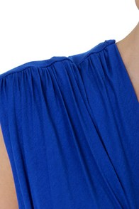 Twisting the Night Away Blue Dress at Lulus.com!