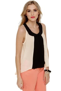 Piano Lounge Sleeveless Cream Top at Lulus.com!