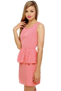 Dotty or Nice Pink Polka Dot Dress