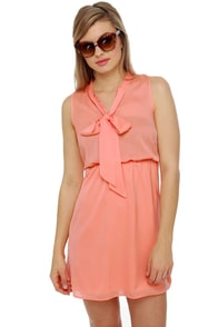 Commuter Train Peach Dress