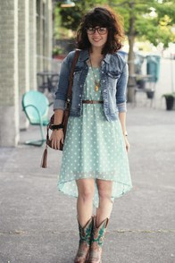 Southern Hospitality Light Blue Polka Dot Dress at Lulus.com!