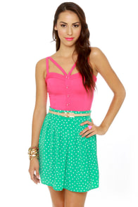 Chick-let�s Dance Mint Green Mini Skirt