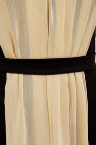 Coliseum Cutie Black and Beige Dress