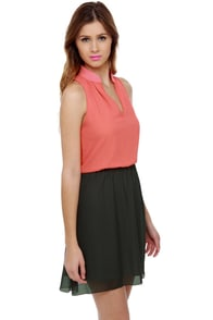Seaside Ride Color Block Dress at Lulus.com!
