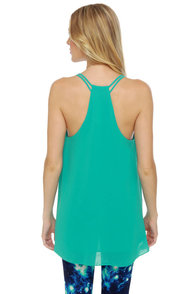 Tanks a Lot Turquoise Tank Top at Lulus.com!