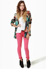 Gypsy Junkies Zeppelin Floral Print Blazer at Lulus.com!