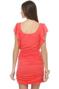 Tropical Attraction Coral Pink Dress