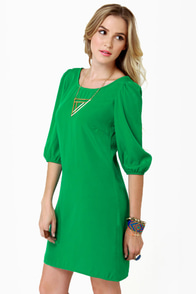 In My Prime-ary Green Shift Dress at Lulus.com!