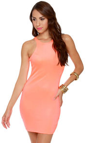 Effects on the Beach Neon Coral Dress at Lulus.com!