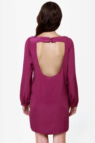 Set the Stage Backless Purple Dress at Lulus.com!