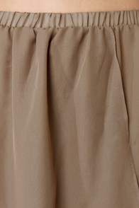 Fall for It High-Low Brown Skirt at Lulus.com!