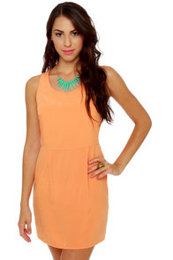 Yogurt Pop Orange Dress at Lulus.com!