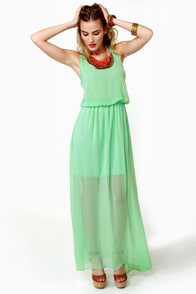 Mount Olympus Mint Green Maxi Dress at Lulus.com!