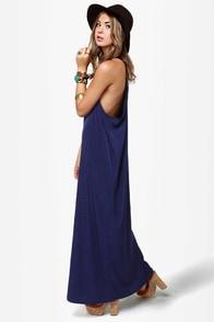 Give 'em the Slip Navy Blue Maxi Dress at Lulus.com!