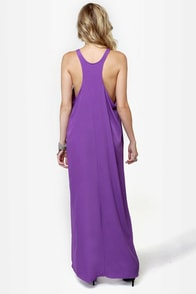 Give 'em the Slip Purple Maxi Dress at Lulus.com!