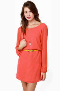 Dinner for Two Persian Orange Shift Dress at Lulus.com!