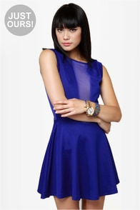 Cut It Out Royal Blue Dress