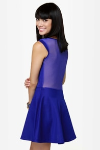 LULUS Exclusive Cut It Out Royal Blue Dress at Lulus.com!