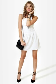 LULUS Exclusive Skater Dee Ivory Dress at Lulus.com!