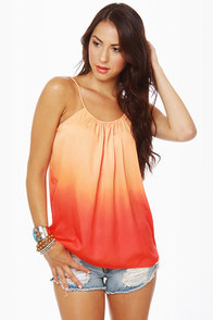 Ombre-ging Rights Orange Tank Top at Lulus.com!