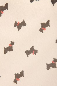 Everyone Loves a Terrier Cream Print Dress at Lulus.com!