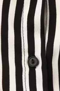 Zoetrope Black and White Striped Top