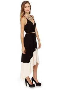 Suitcase Staple High-Low Black Dress at Lulus.com!