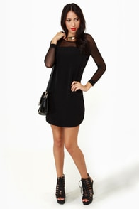 Meet Your Mesh Black Dress at Lulus.com!