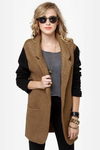 Uptowner Black and Brown Coat