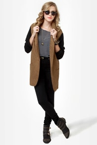 Uptowner Black and Brown Coat at Lulus.com!