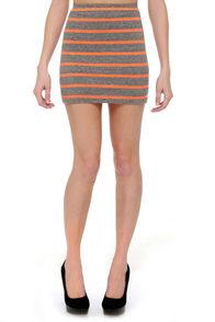 Lucent Dream Neon Striped Mini Skirt