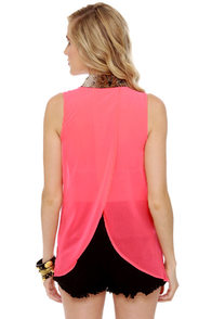 Snake Your Body Line Neon Pink Top at Lulus.com!