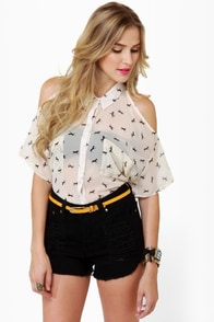Mustang Sally Sheer Horse Print Top at Lulus.com!