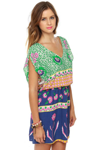 Lucy Love Happy Villa Floral Print Dress